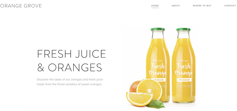 Website by Orange Grove built with WebNode