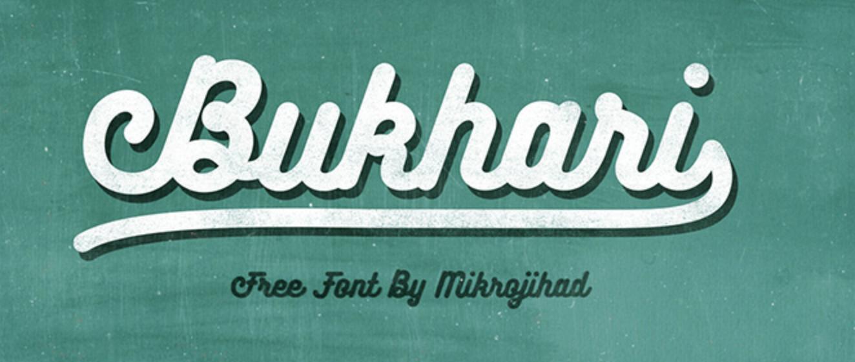 Bold calligraphy font called Bukhari Script