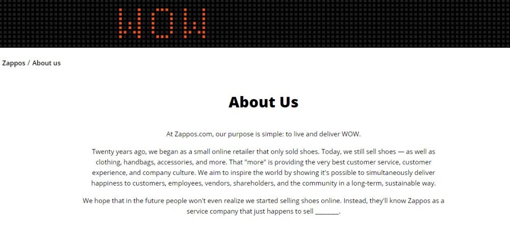 Wow-Zappos