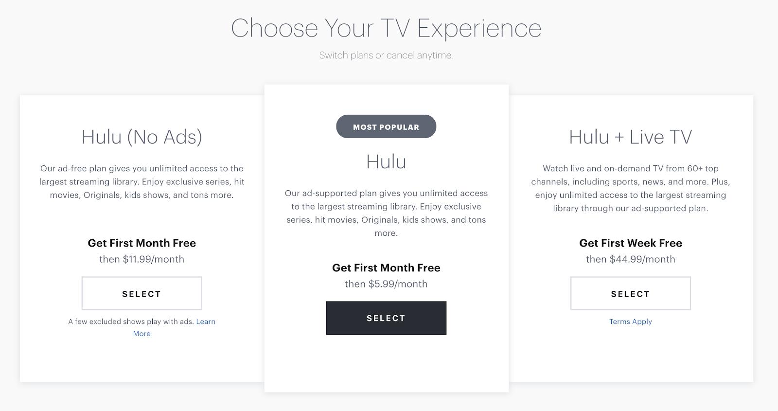 Hulu-User-Onboarding