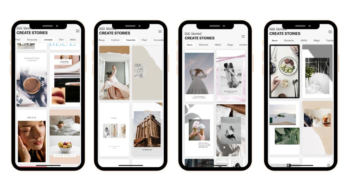 500 historias + aplicación