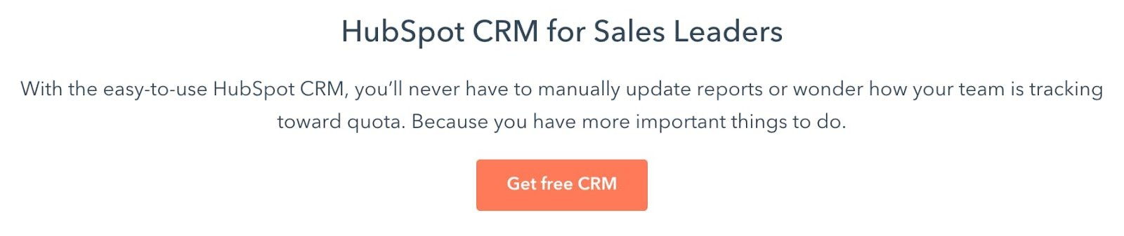 HubSpot sales copy