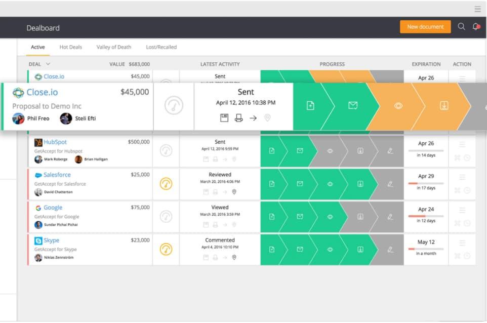 GetAccept B2B sales enablement software