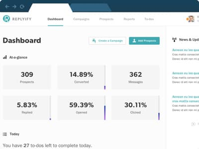 SellHack sales pipeline dashboard