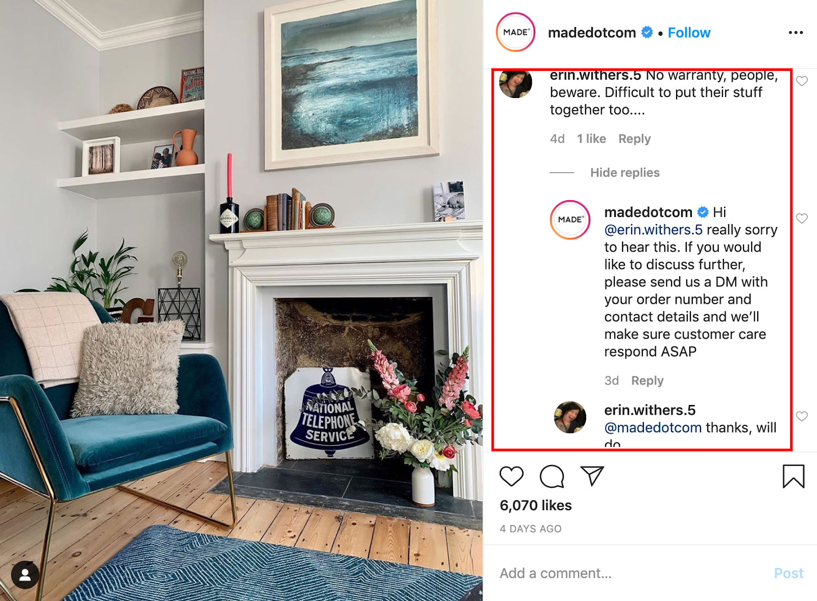 MADE-instagram-customer-service