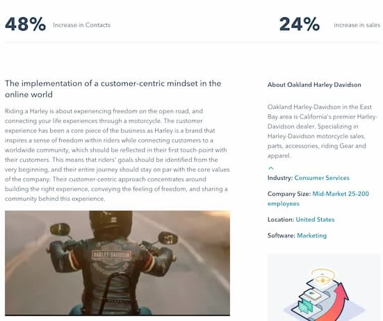 example of good sales content - good case study