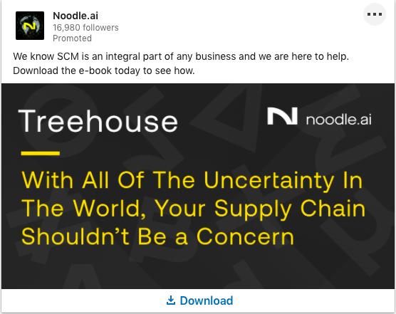 Noodle.ai's LinkedIn Content Ad