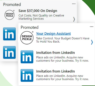 Example of LinkedIn Text Ads