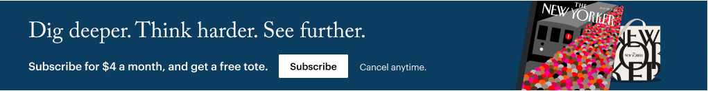 The New Yorker banner ad