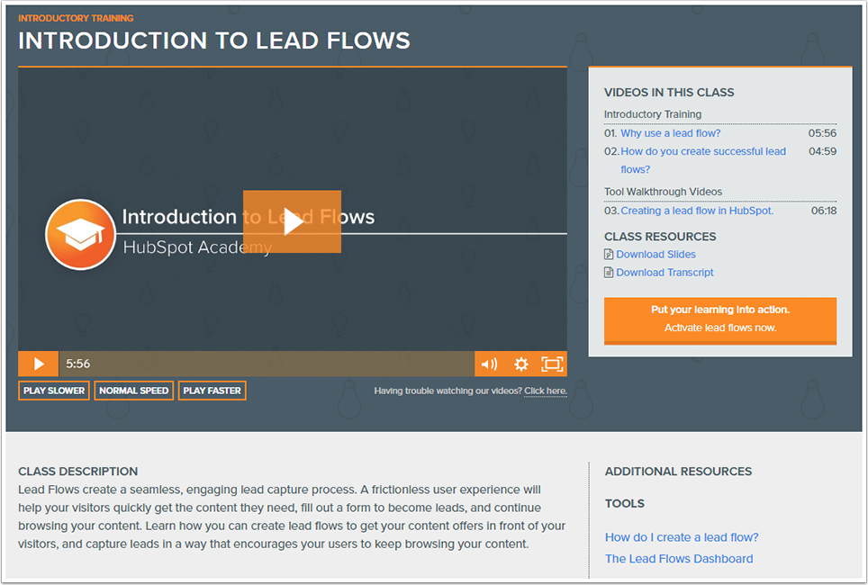 learn lead flows