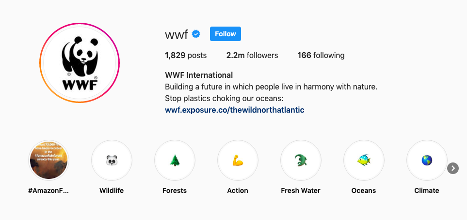 World Wildlife Fund Instagram