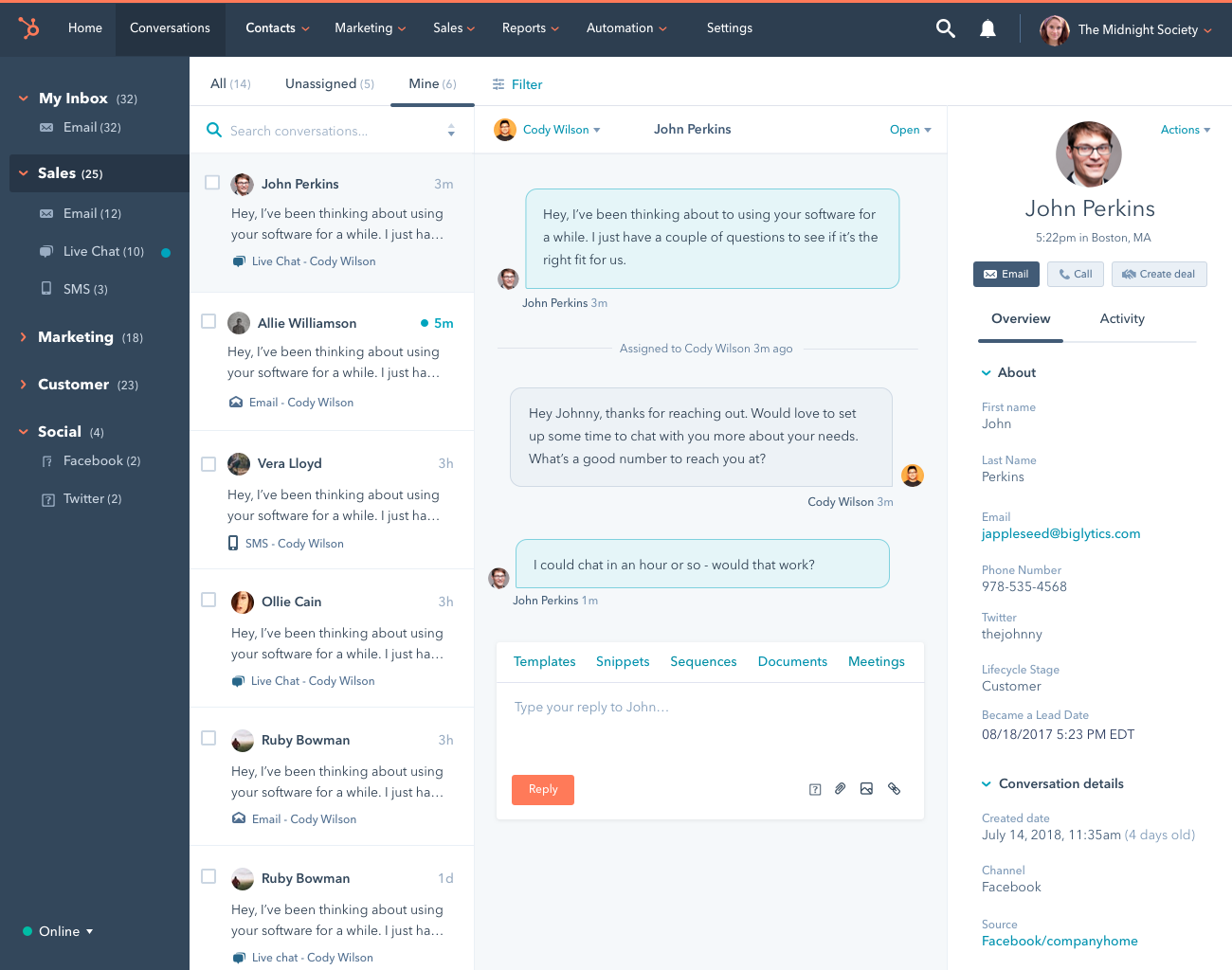 Image result for hubspot conversations tool