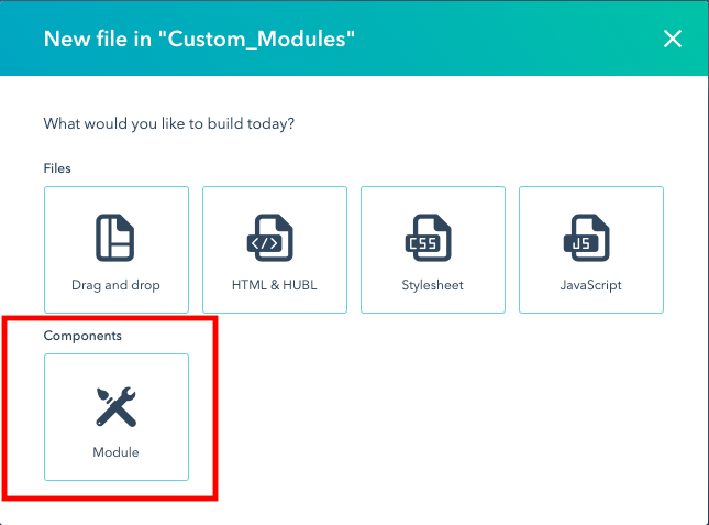 how to create a new module in hubspot