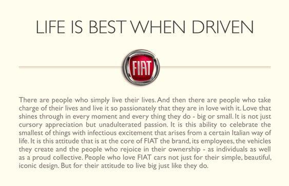 Fiat Brand Manifesto