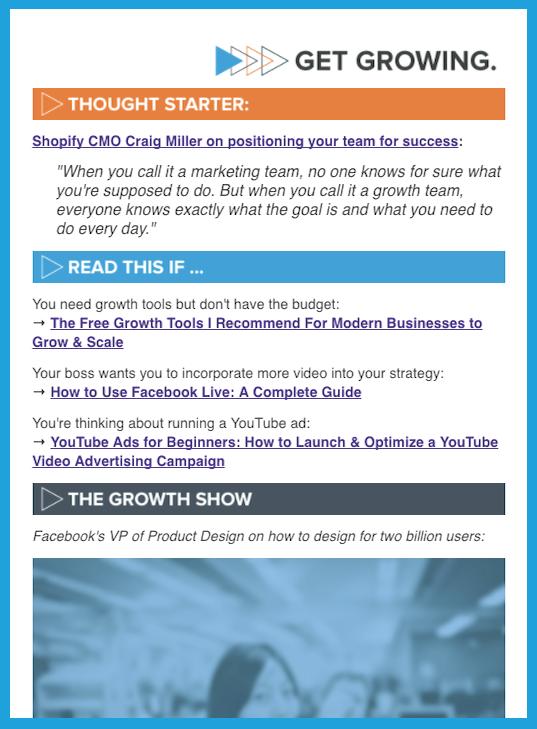 Get Growing Newsletter
