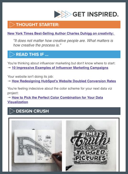 Get Inspired Newsletter
