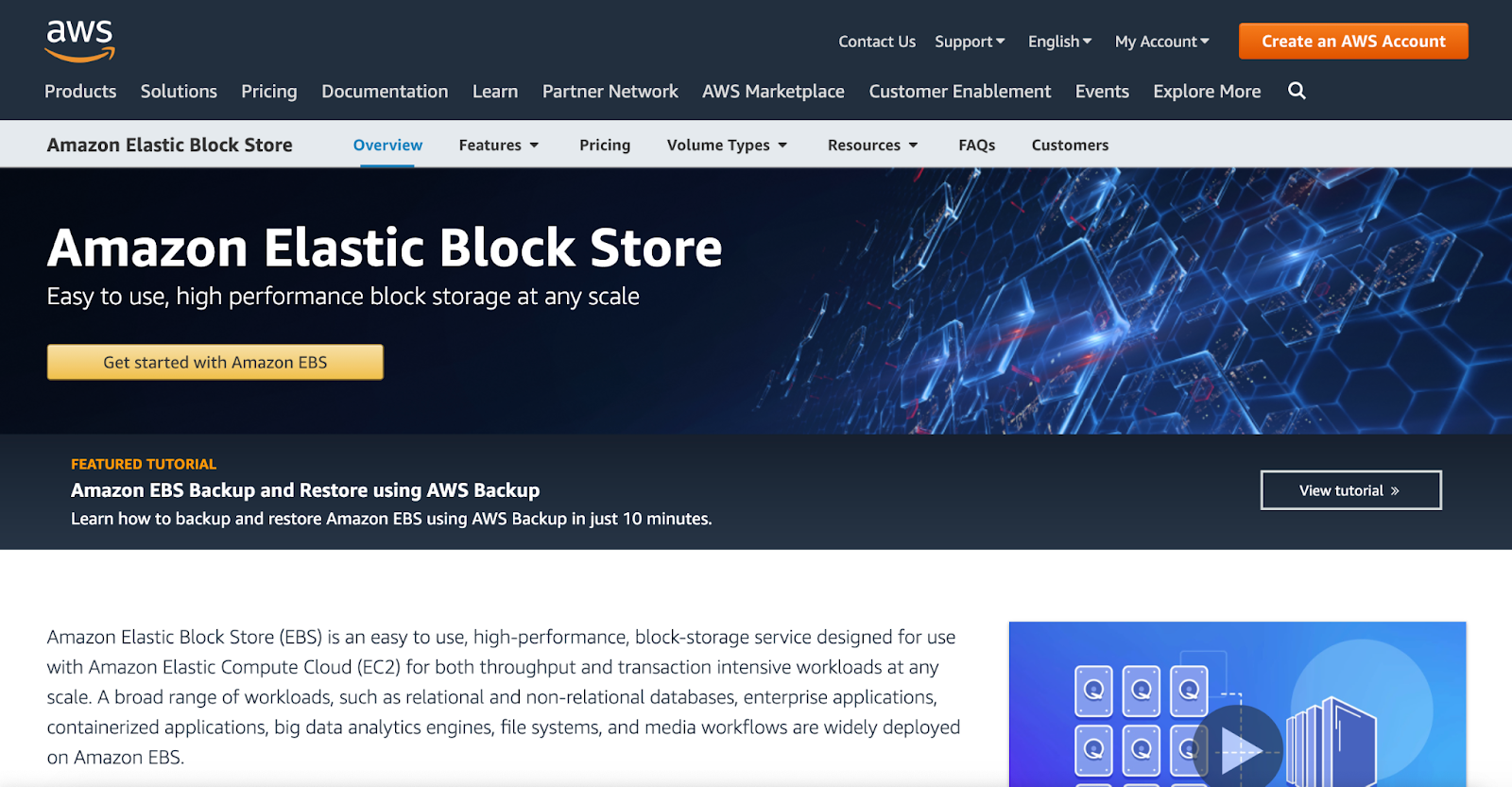 amazon elastic block store