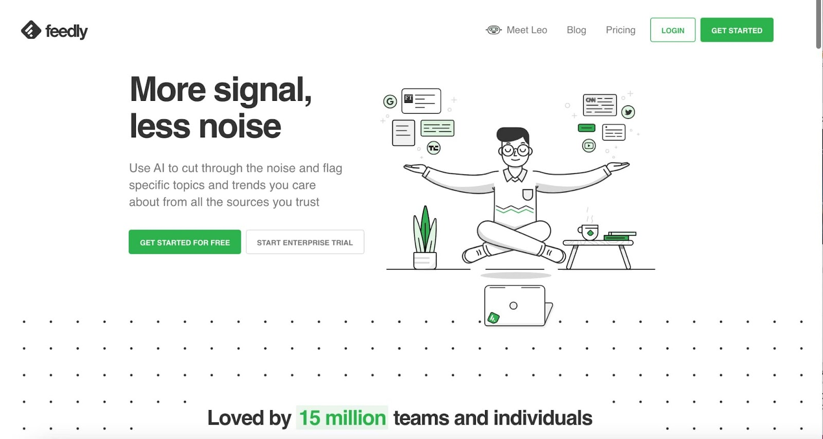 Content curation tool Feedly