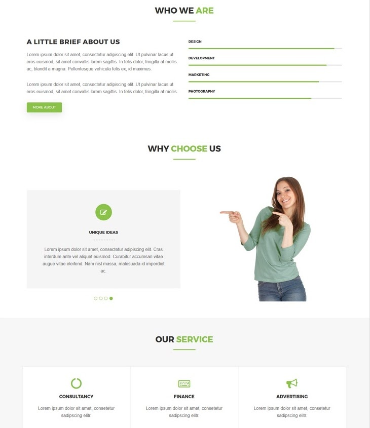 best material design wordpress theme: greatway