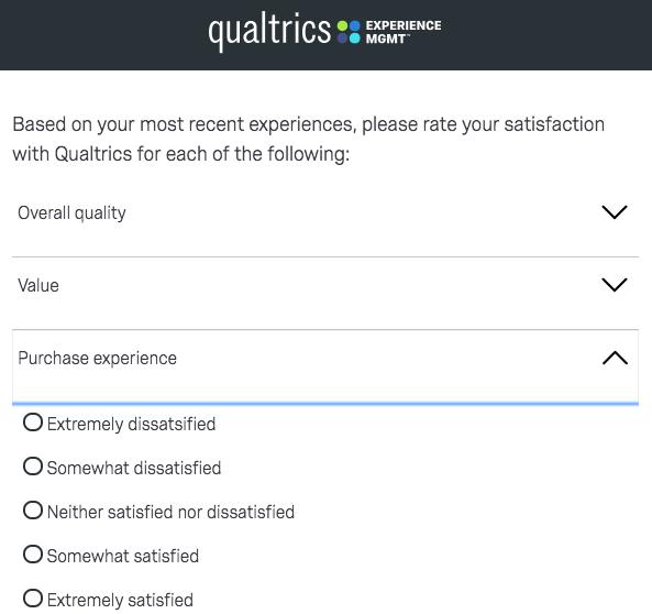 customer satisfaction survey example: qualtrics
