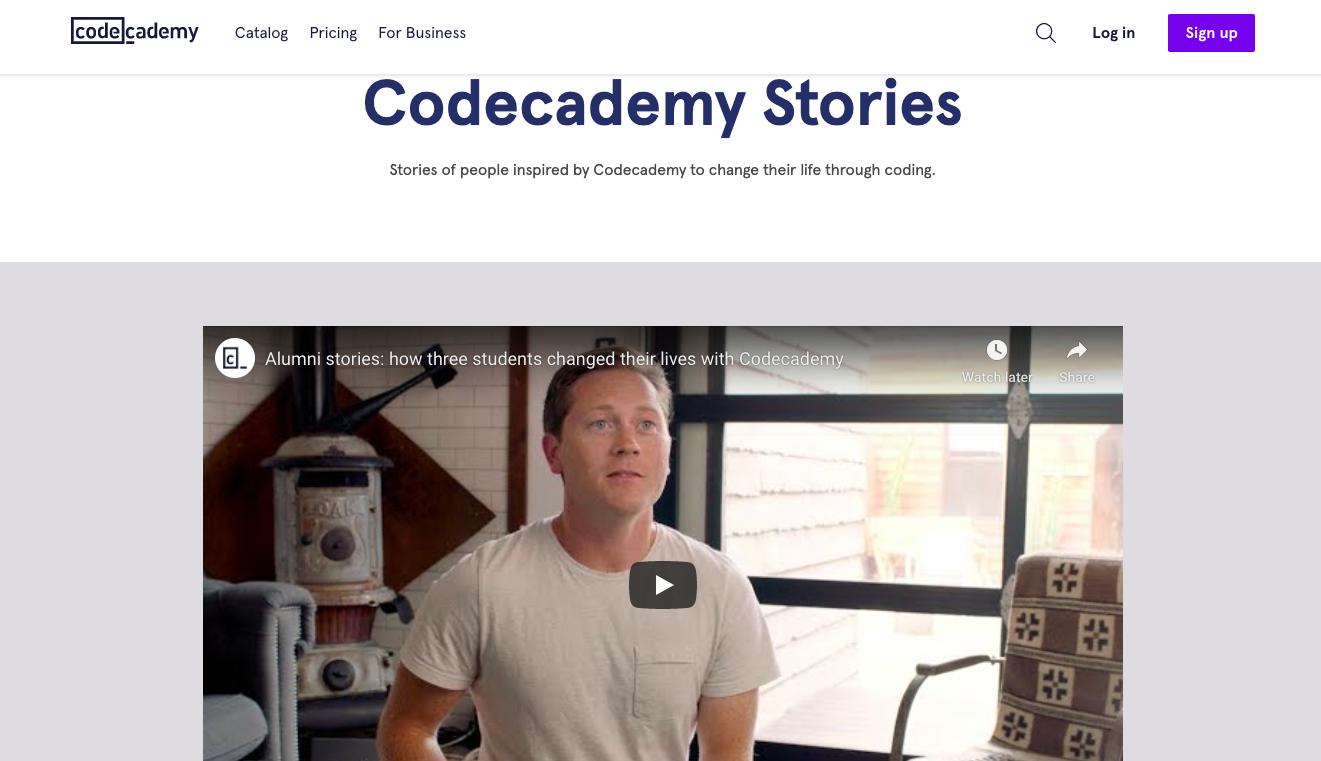 Codecademy-customer-testimonial-videos