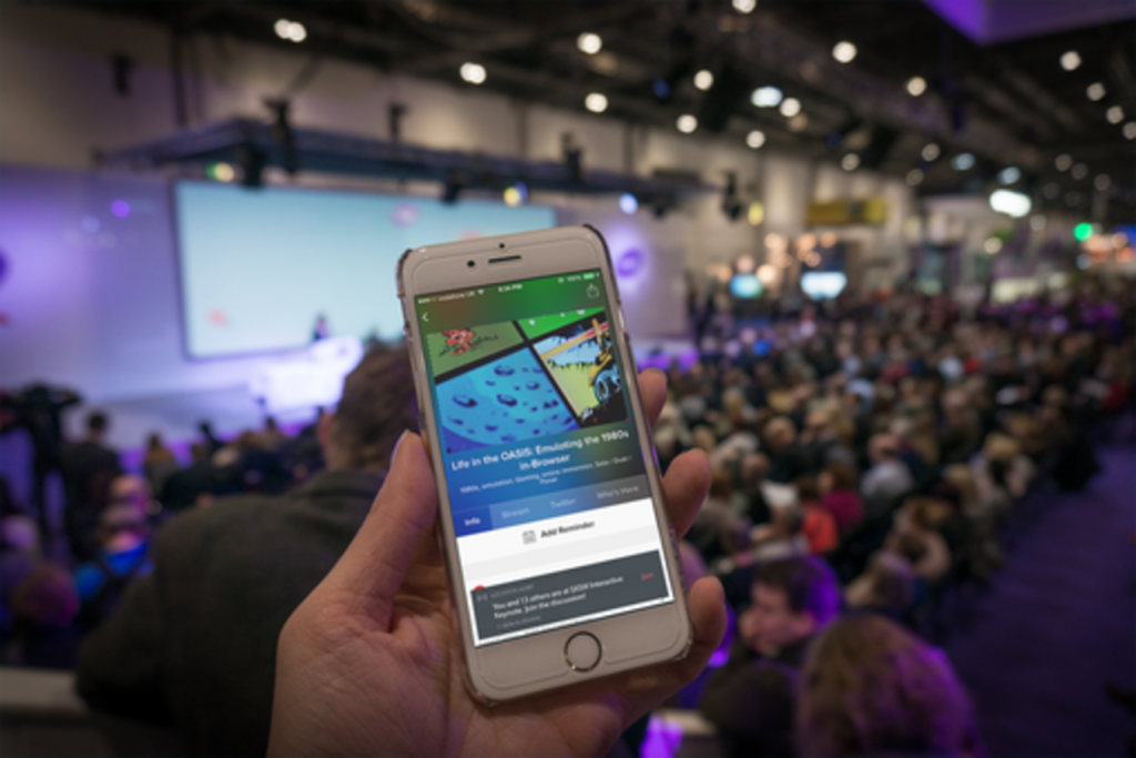 mobile beacon in convention center to get customer feedback
