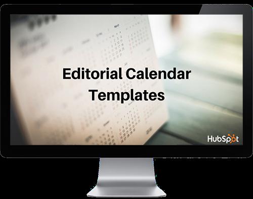 editorial calendar templates
