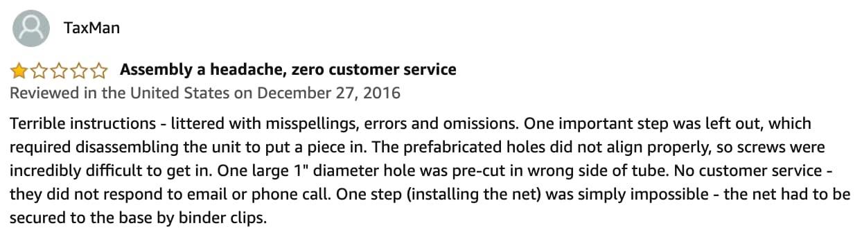 customer dissatisfaction 4