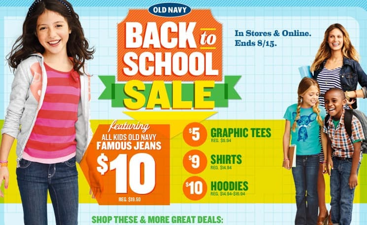 promotional pricing old navy