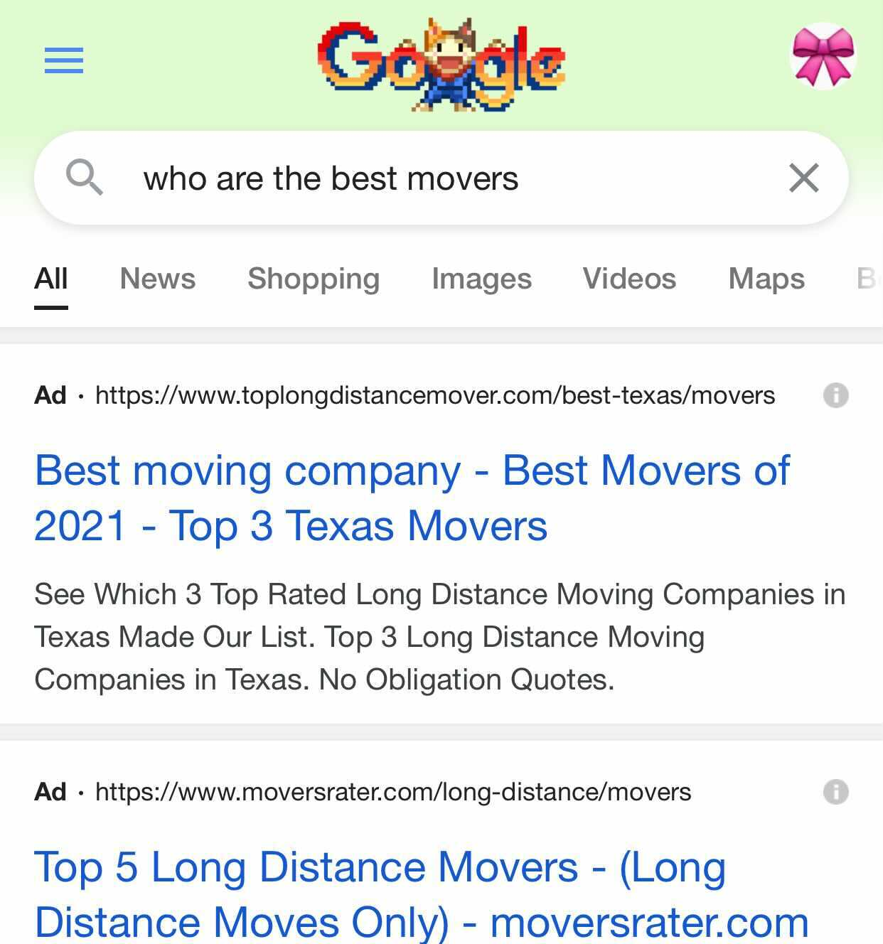 paid search advertising: Google example