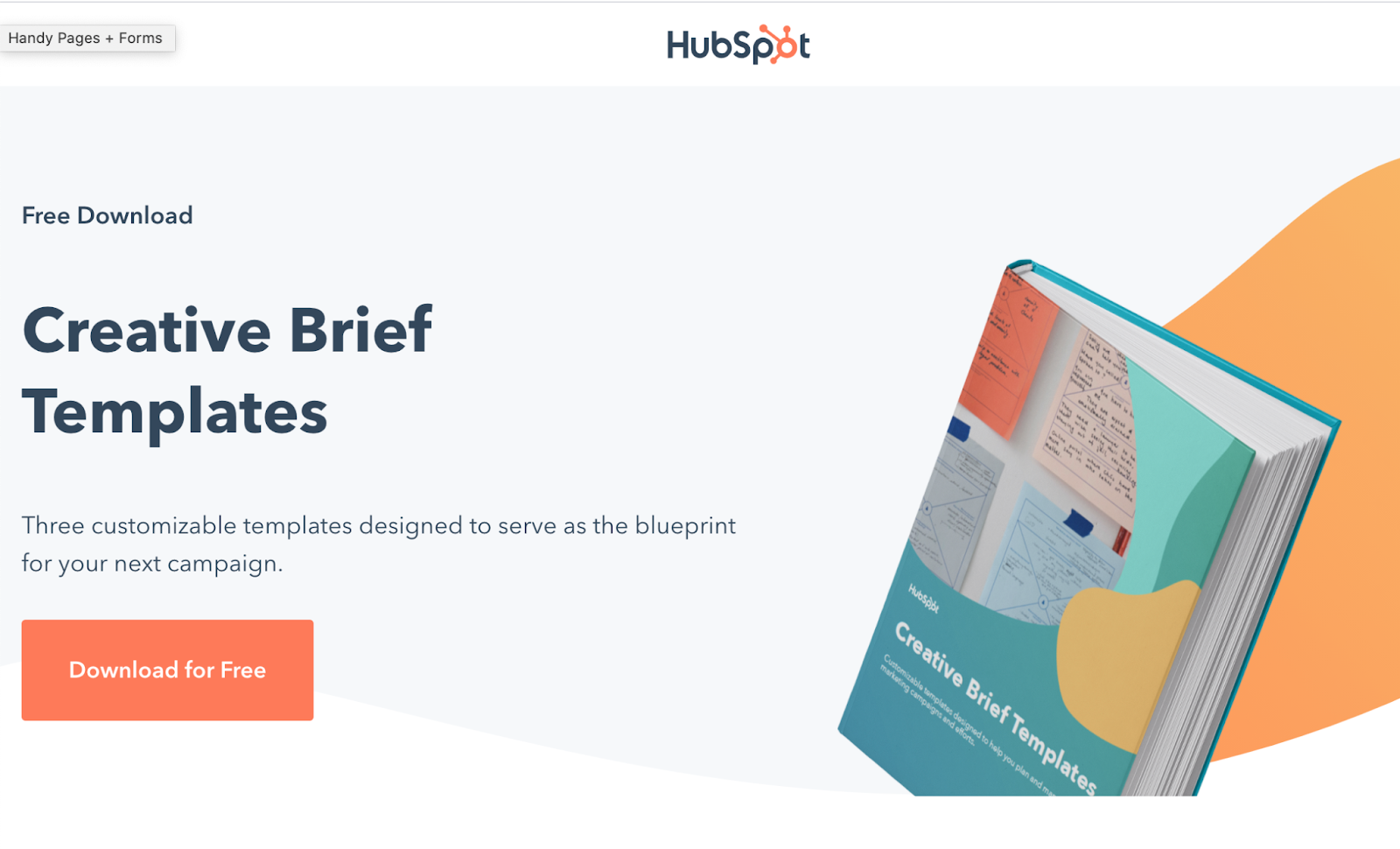 HubSpot design brief generator