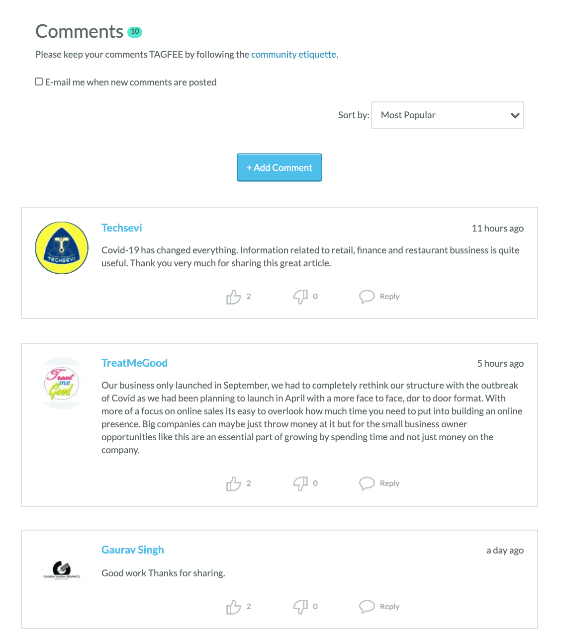 moz comment section of blog