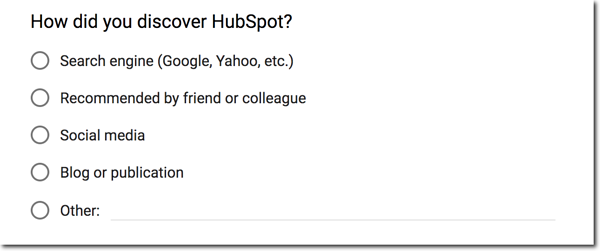 How Did You Hear About us HubSpot
