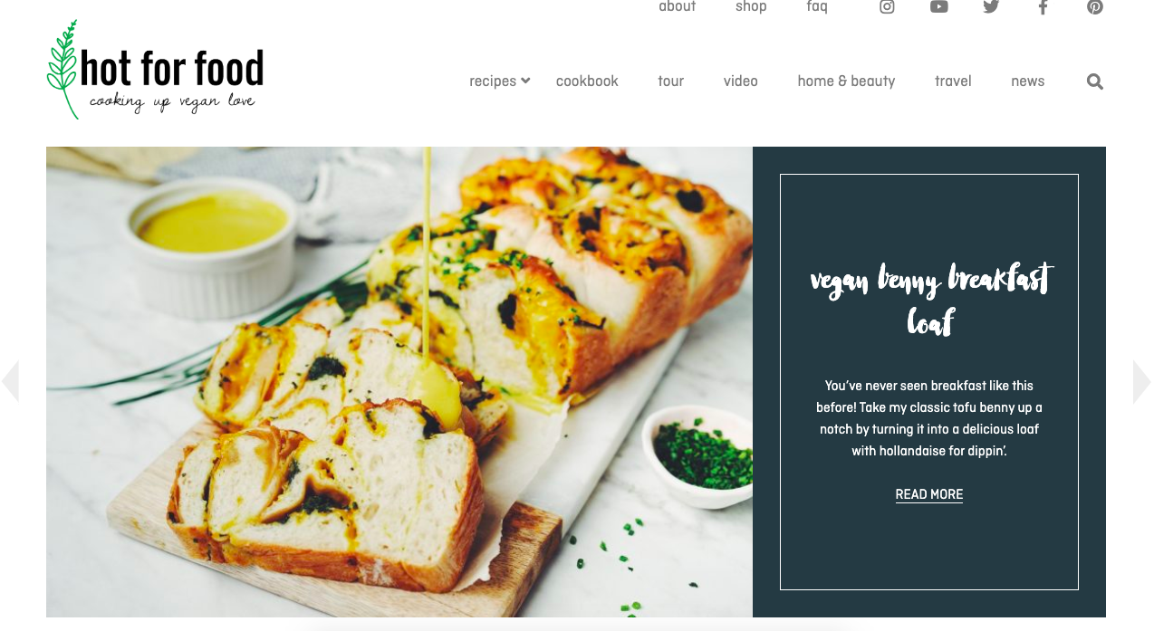 An example of a well-named Blog, 'Hot for Food'