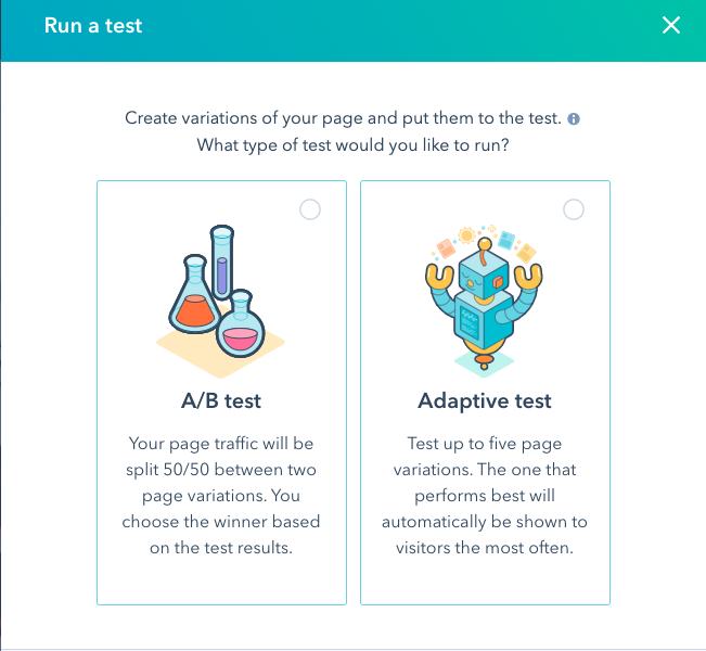 How to test a landing page in HubSpot's CMS.