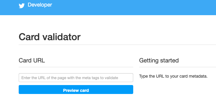 image of Twitter's card validator