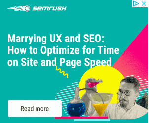 Banner ad for SEMRrush