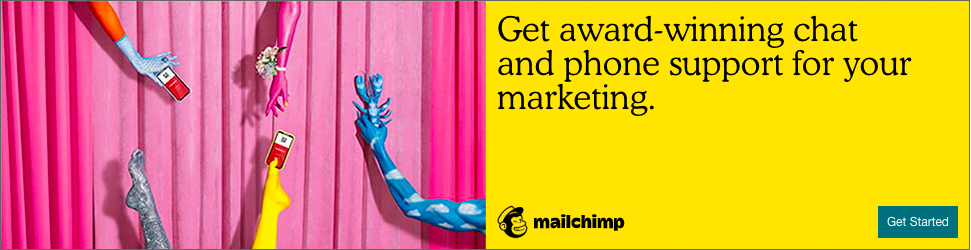 Banner ad for Mailchimp