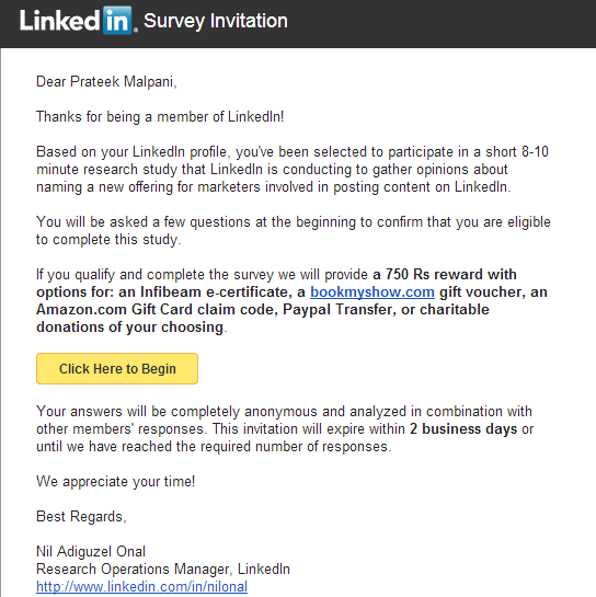 LinkedIn-Survey-Incentive