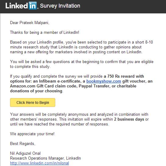 LinkedIn-Survey-Incentive