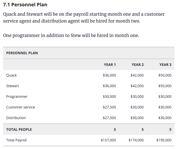 Ecommerce business plan example
