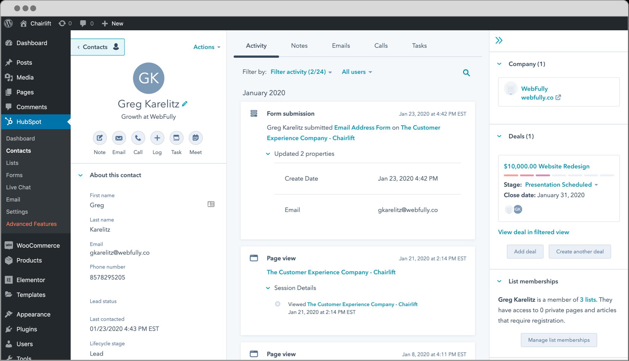 HubSpot-WordPress-automation-Plugin