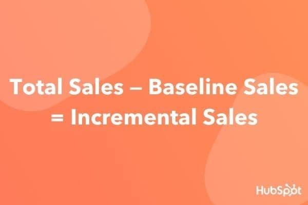 incremental sales formula