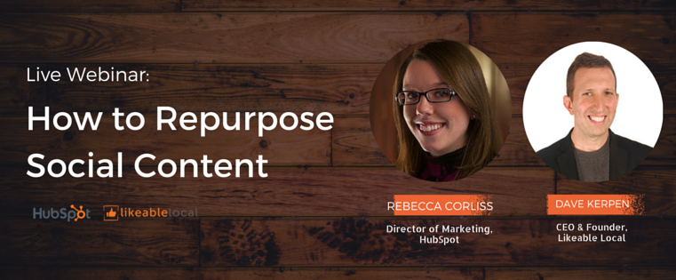 How to Repurpose Your Social Media Content [Live Webinar]