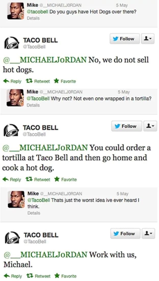 organic vs. paid social media taco bell