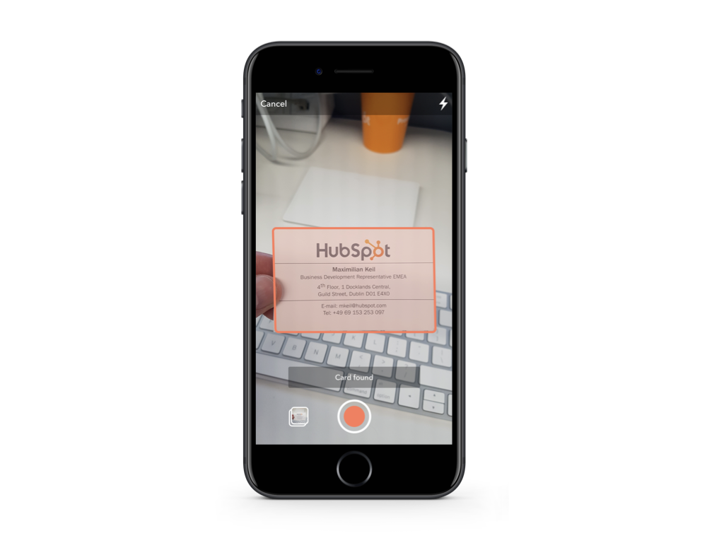 Business Card Scanner on Mobile