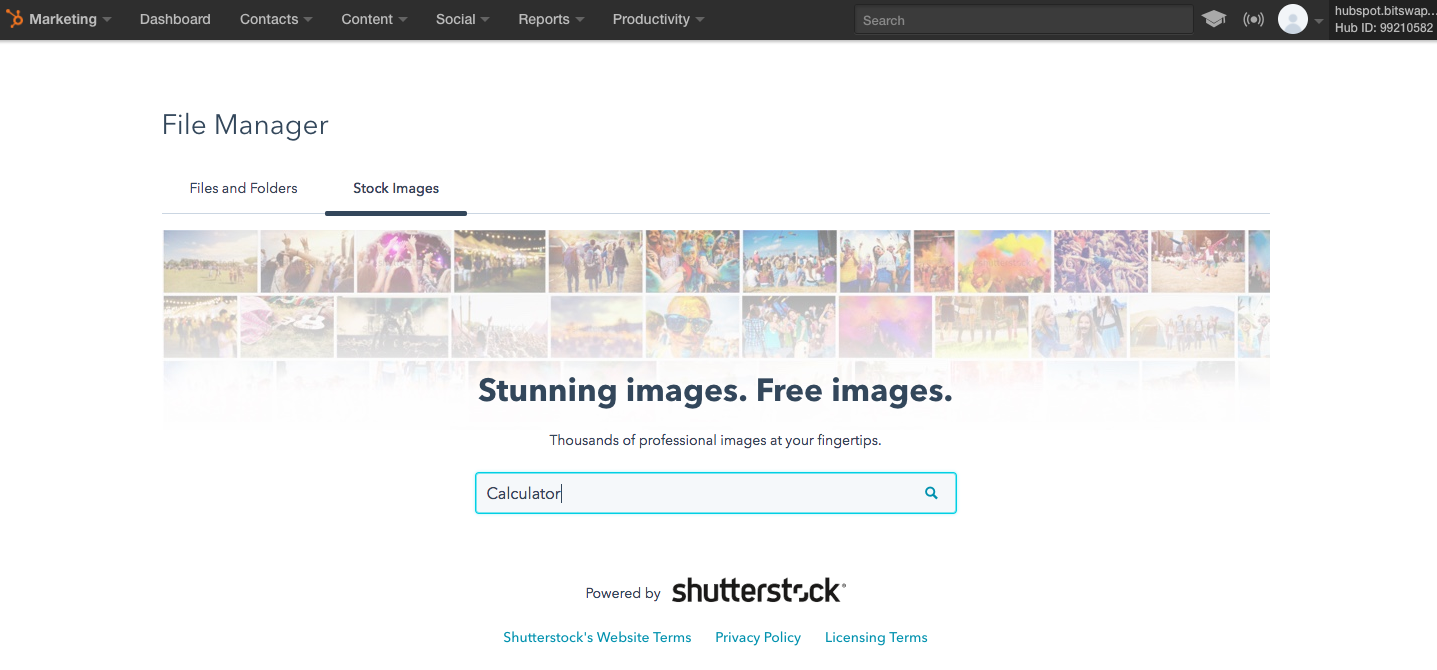 Supercharge Your Content With Shutterstock for HubSpot