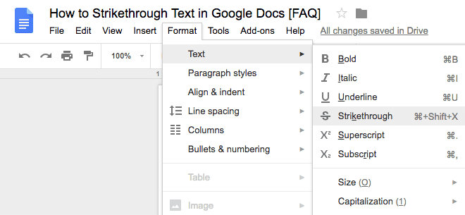 How to Strikethrough Text in Google Docs [FAQ]