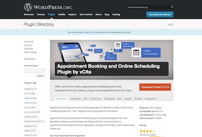 Appointment Booking vCita Wordpress Plugin