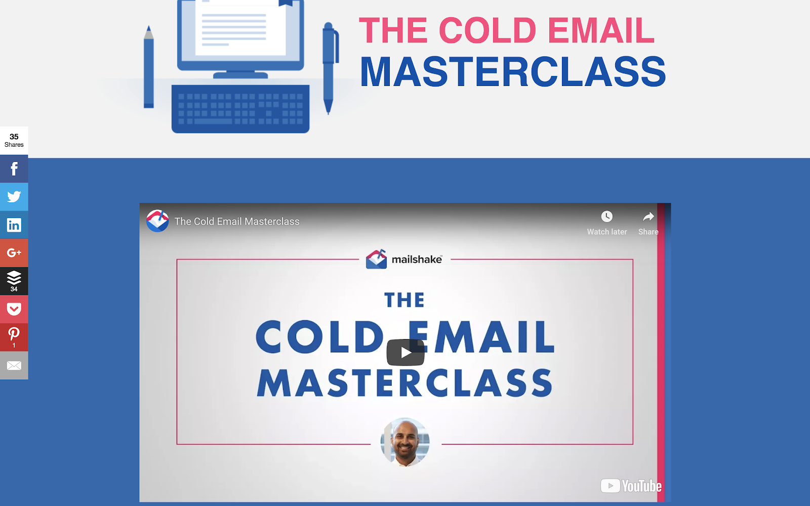 Cold Email Masterclass screenshot